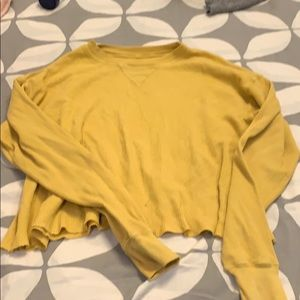 Brandy melville yellow thermal crop top